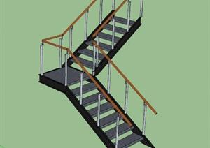 某楼梯详细独特SU(草图大师)模型