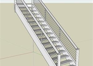 现代室内详细楼梯设计SU(草图大师)模型