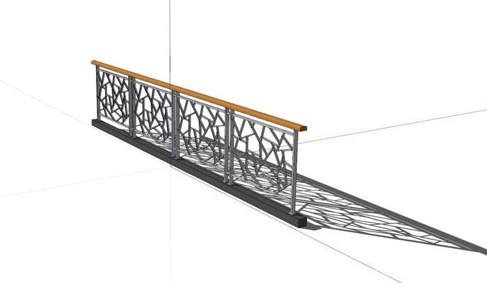 现代详细经典的栏杆设计su模型[原创]图片