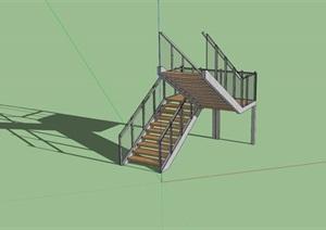 某建筑及室内楼梯设计SU(草图大师)模型