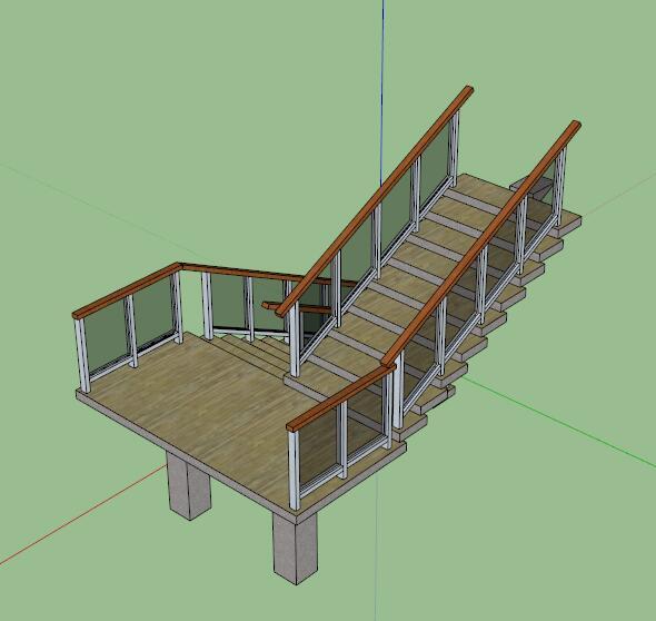 室内详细楼梯设计su模型