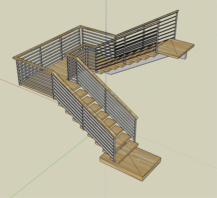 某室内详细的楼梯素材设计su模型