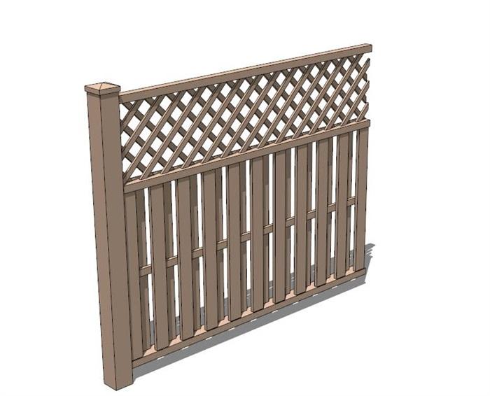 中式独特详细的栏杆素材设计su模型[原创]图片