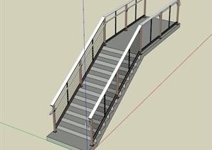 某室内详细楼梯设计SU(草图大师)模型