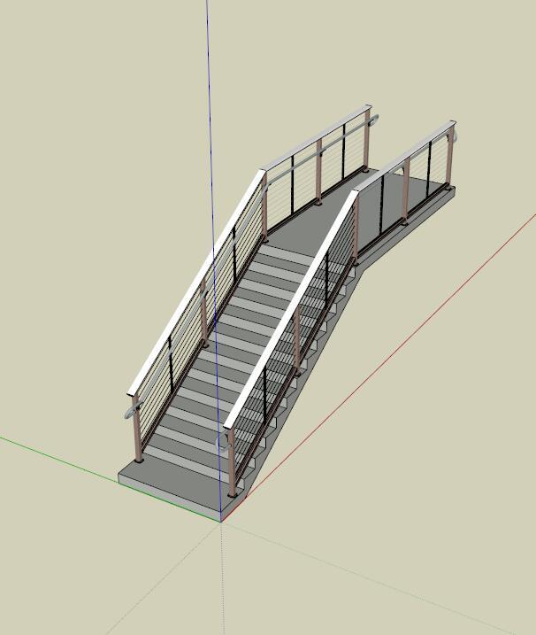 某室内详细楼梯设计su模型