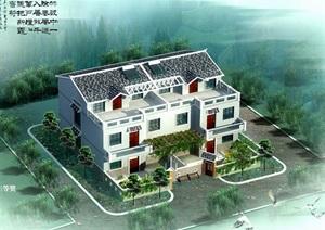江西农村住宅别墅设计cad效果图图集