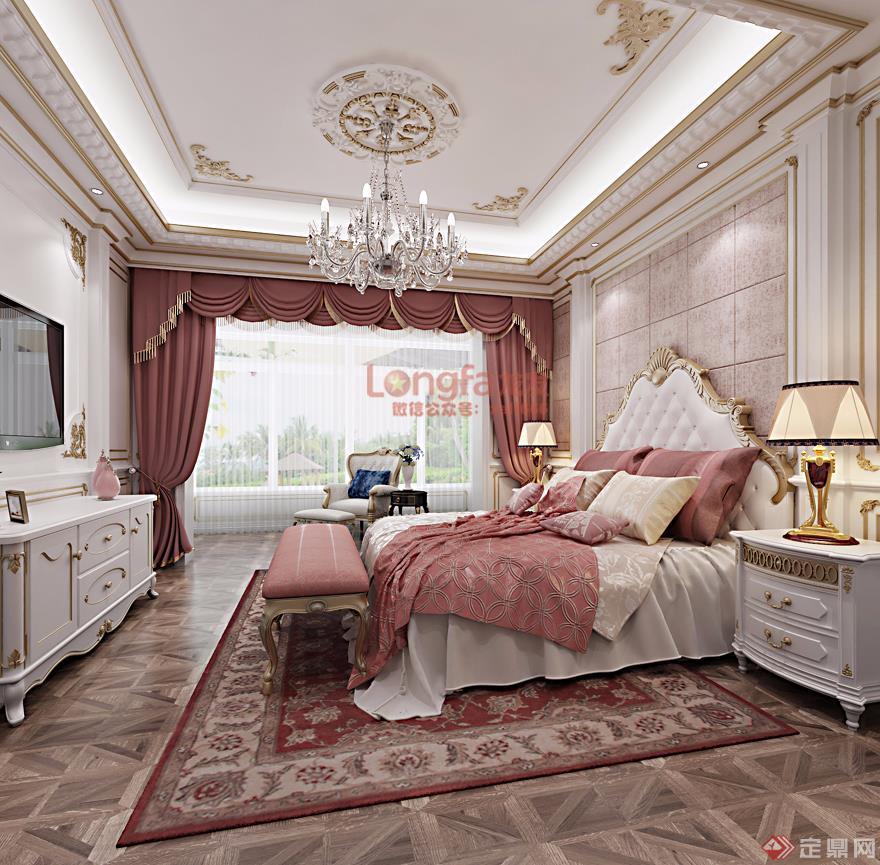 卧室3 法式风格 装修效果图图片