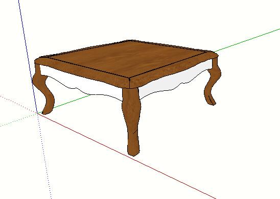 欧式木质独特的桌子su模型[原创]