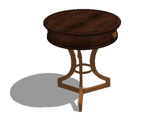 某欧式详细的圆桌素材设计su模型[原创]