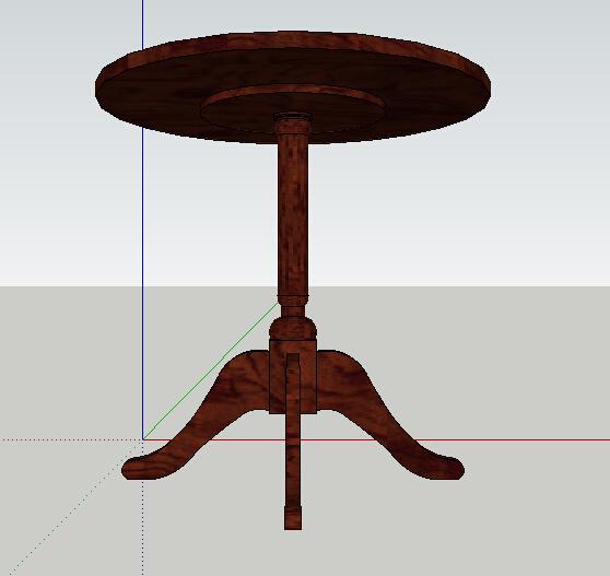 欧式详细的木质桌子su模型[原创]