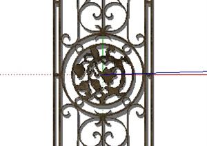 某欧式铁艺窗子设计SU(草图大师)模型