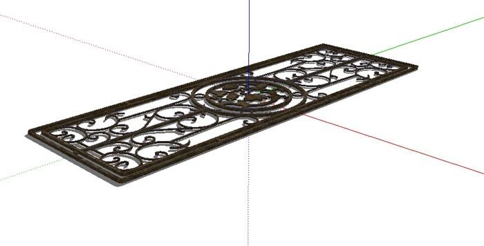 某欧式铁艺窗子设计su模型