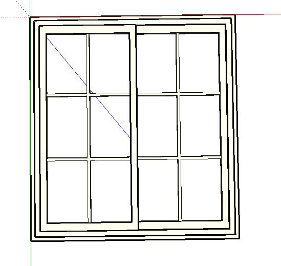 某室内独特的窗子设计su模型