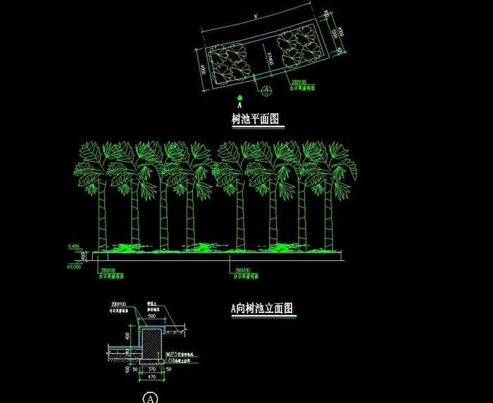 现代园林景观树池设计cad施工图[原创]