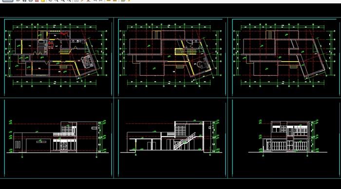 现代集装箱方案cad别墅带效果图[选项]望中cad原创在哪图片