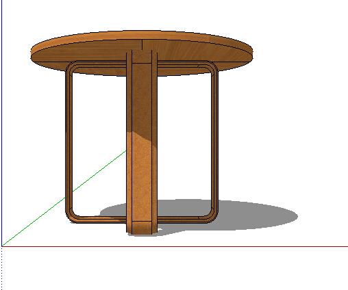 某室内木质桌子su模型[原创]