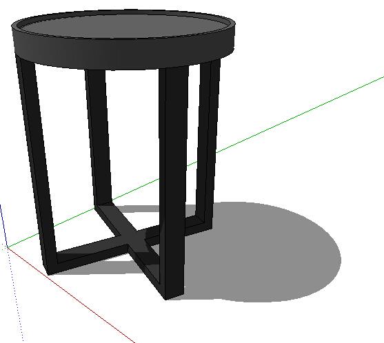 室内圆形凳子设计su模型[原创]