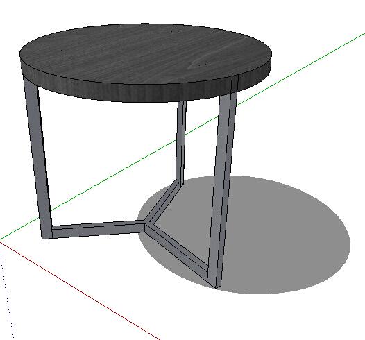 圆形室内凳子设计su模型[原创]