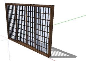 某现代玻璃窗子设计SU(草图大师)模型