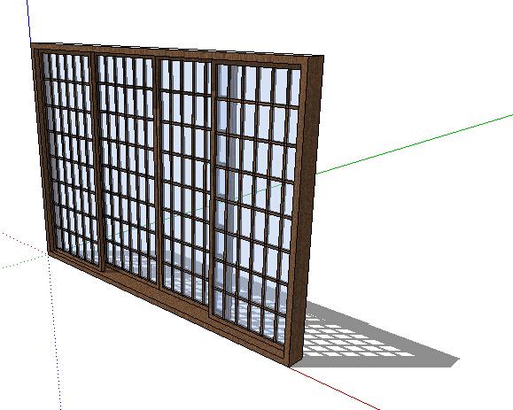 某现代玻璃窗子设计su模型