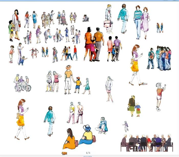 多种不同的手绘人物素材psd效果图[原创]