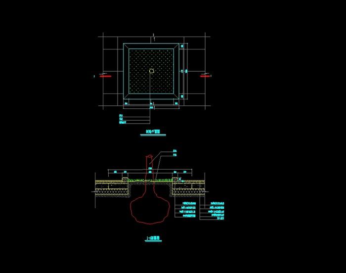 方形详细的树池设计cad施工方案[原创]