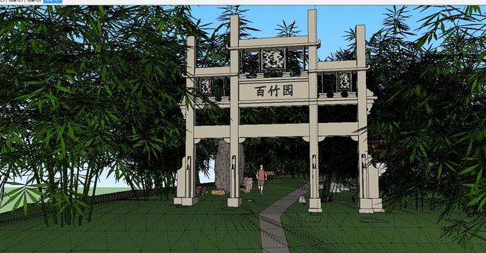 园林景观中式风格公园设计su模型,模型为古典中式风格,模型有材质贴图,细节处理得当详细完整,具有一定的使用价值,欢迎下载。