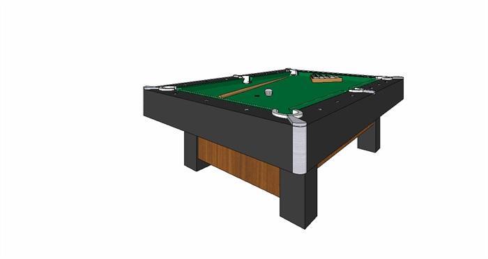 某台球桌详细设计su模型
