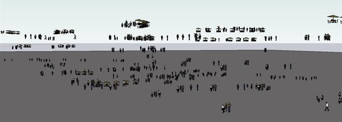 99种2d人物素材su模型