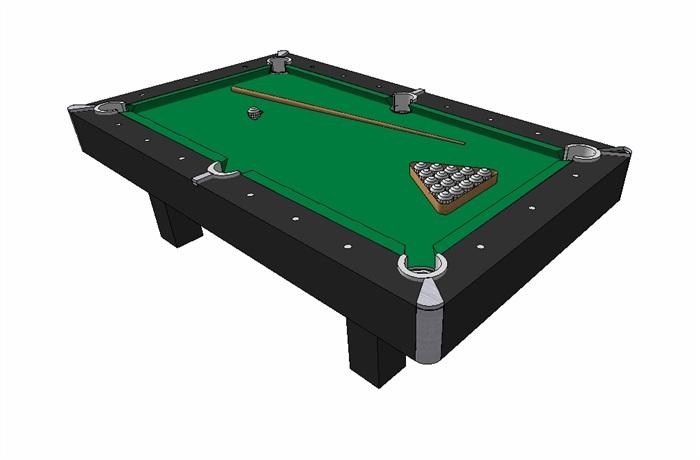 某台球桌详细设计su模型(3)