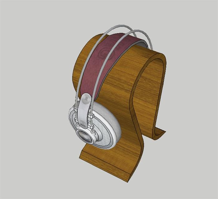 耳机架出售品设计su模型