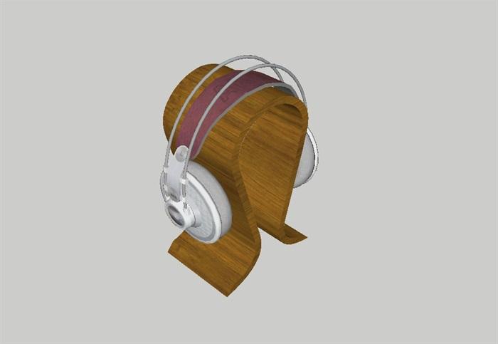 耳机架出售品设计su模型(3)