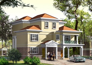 独栋别墅cad施工图设计