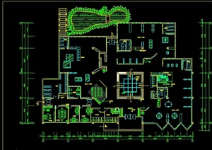 某现代展厅设计cad方案图