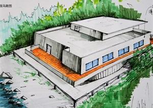 山地多层别墅设计cad图纸