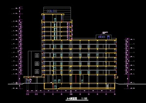 12691平米11层火车站旅馆建筑cad施工图