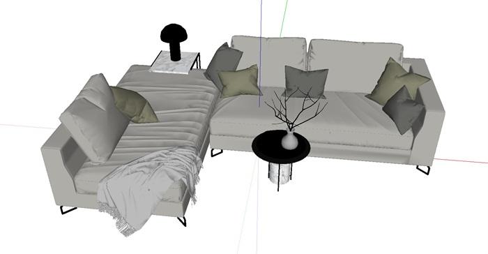 新款沙发精美家具设计su模型