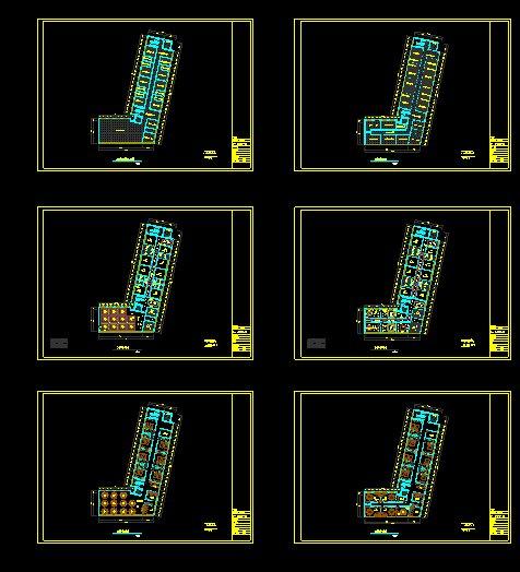 多层酒店宾馆室内平面布置图(2)