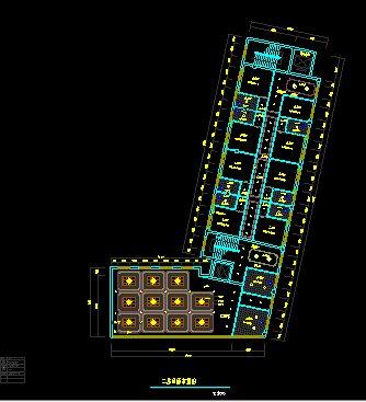 多层酒店宾馆室内平面布置图(1)