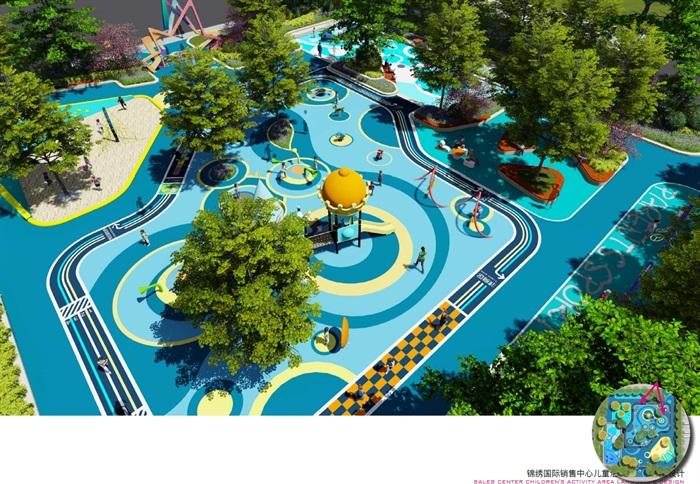 锦绣国际住宅小区儿童活动区景观设计su模型[原创]