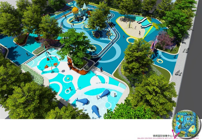 锦绣国际销售中心儿童活动区景观设计方案与su模型(2)