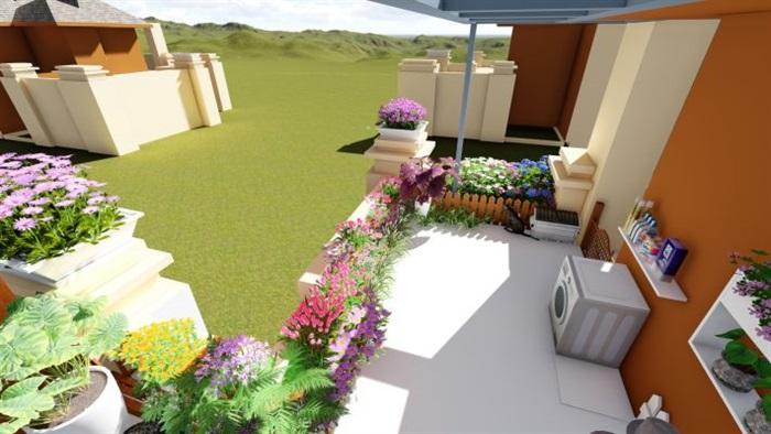 欧式屋顶花园景观方案su设计模型[原创]