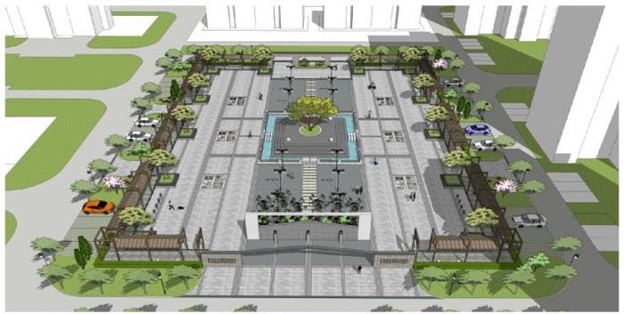 新中式小区中庭景观su设计模型[原创]