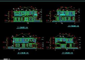 经典别墅独栋设计cad施工图