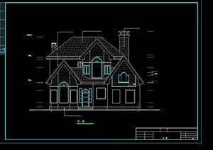别墅独栋设计cad方案