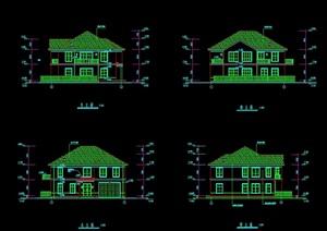 水上别墅建筑设计cad施工图