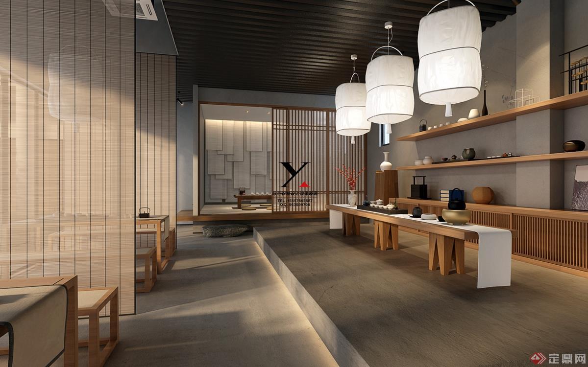 茶室空间设计表现-苡芯效果-15557865687同微信