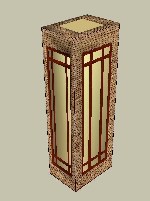 10个室外景观灯柱素材su模型[原创]