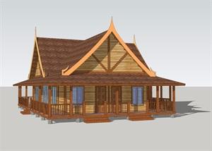 泰式木结构别墅