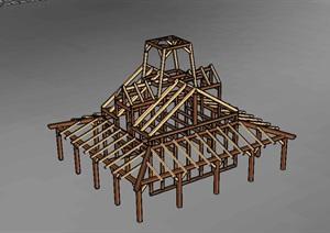 某现代构筑物素材设计SU(草图大师)模型